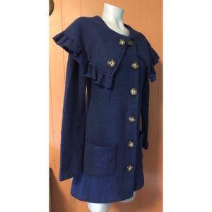 Anthropologie Jackets & Coats - Anthropologie HWR Monogram Herlev Sweatercoat